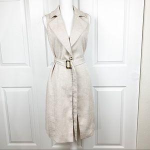 WHBM Vest Trench Coat Career Office Wear
